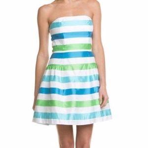 Lilly Pulitzer Jordan Dress in blue & green stripe